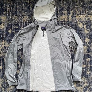 Patagonia H2No Hooded Rain Jacket Grey Large